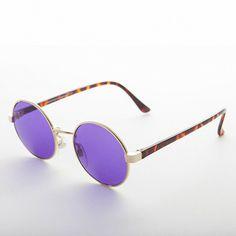 566aeaeb01a25 John Lennon Round Color Lens Vintage Sunglasses Gold   Purple 1990s - Dylan   affilink  vintagesunglasses  vintage