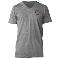 http://www.roguefitness.com/rogue-barbell-club-v-neck-shirt-gray.php?a_aid=4ff181ec18f98 #crossfit Rogue Barbell Club V-Neck Shirt - Gray