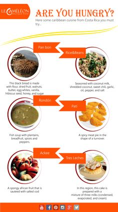 Here are some Caribbean cuisine from Costa Rica you must try. Check our last #infographic