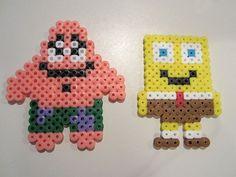 spongebob perler bead patterns   Patrick Sponge Bob perler beads