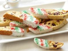 Giada's Holiday Biscotti with cranberries, pistachios and white chocolate: Cooking Channel