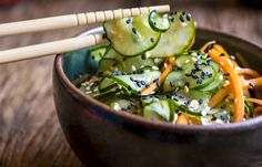 Receita Dedo de Moça: Salada de pepinos (sunomono)