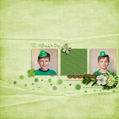 St Paddy's 2015 by Jenn Marione   jk703 Lucky by Sabrina DuPre - http://the-lilypad.com/store/Lucky-sabrina_lucky.html  Simple & Sweet Album 1 by Scrapping with Liz - http://the-lilypad.com/store/Simple-and-Sweet-Album-Templates-1.html Font is Special Elite.  TFL!