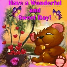 Good Morning Post, Good Morning Everyone, Cute Cat Wallpaper, Friends Gif, Sweetest Day, Cute Bears, Good Day, Bowser, Winnie The Pooh