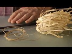 Floral Recipe ' Raffia Canopy composition' - YouTube