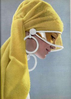 Yellow visor- 1969 #vintage #fashion