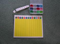 DIY Montessori decimal board