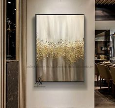 Modern-day Inside Style In Your Laundry Space Original Large Abstract Painting Gold Leaf Art Impasto Original Textured Pallet Knife Modern Origina Drip Painting, Large Painting, Diy Canvas Art, Diy Wall Art, Art Feuille D'or, Glitter Wall Art, Gold Leaf Art, Gold Art, Painted Leaves
