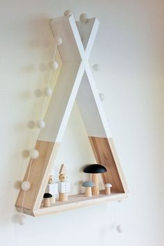awesome Teepee Shelf Shelves White Tribal Nursery Decor Woodland Decor Kid's Room Decor
