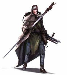 Human Taborian Scavenger Operative - Starfinder RPG (Core Rulebook Art)