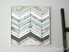 Chevron wall art