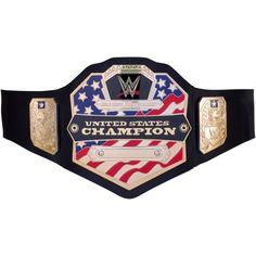 WWE United States Championshp Belt, Boy's, Black/Beige