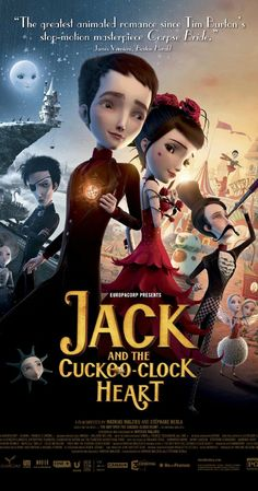 Jack and the Cuckoo-Clock Heart (2013) - A 19th-century drama about a man whose heart was replaced with a clock when he was born. The situation dictates that he should avoid feeling strong emotions -- love, most of all -- but he just can't keep his feelings under wraps.
