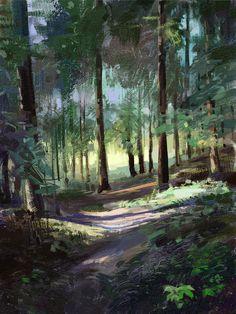 Forest, Tymoteusz Chliszcz on ArtStation at https://www.artstation.com/artwork/Q2W84