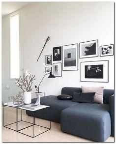 Awesome Living Room Wall Gallery Design Ideas 17 ~ Home Decor Ideas Home Interior, Modern Interior, Interior Design, Home Living Room, Living Room Decor, Apartment Living, Deco Design, Home And Deco, Room Inspiration