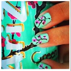 The ultimate obsession. Arizona green tea and nails to match!