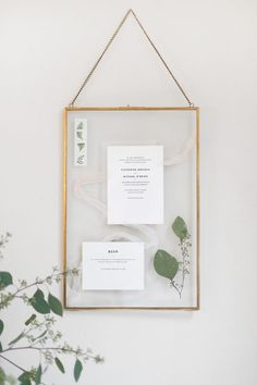 Display your wedding invites forever with this DIYed invitation keepsake idea