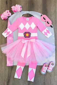 PINK RANGER- Complete Tutu Custom Costume Set- INCLUDES LEGGINGS!