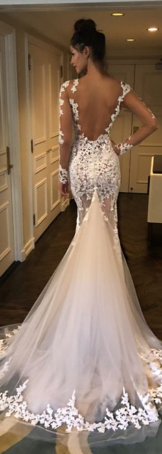 This dress! A glorious backless @bertabridal gown that would look stunning as you walk up the aisle.