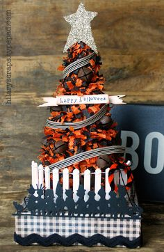Sizzix: Die Cutting Inspiration and Tips: Die Cutting Paper: Halloween Vintage Fringe Tree