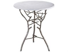 Lazy Susan Silver 18 Round Thicket End Table