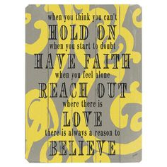 Perfect as a delightful focal point or in an eye-catching vignette, this charming wood wall decor brings an inspirational quote to your walls. Place it in yo...