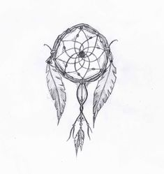 Tattoo Sketches and Drawings | This was my sketch for my tattoo, i love dreamcatchers mainly because ...