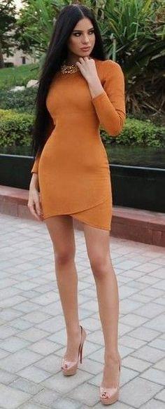 Burnt Orange Little Dress