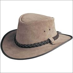 6fea785e7a5 The man who brought you Australias original leather hat goes one better  with this great shape. Features a removable hat band and ...