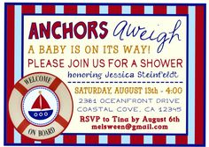 nautical themed baby shower invitation have this customized for a future little sailor and mom