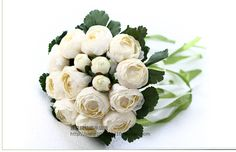 2017 New Arival Cheap Wedding/Bridesmaid Bridal Bouquet Romantic Peony Ivory Handmade Artificial Bouquets