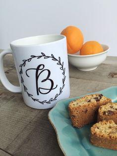 Monogram Coffee Mug / Personalized Calligraphy by LetteredLifeShop