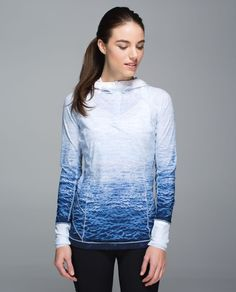 Release Date: 12/2014. Original Price: $98. Materials: Mesh. Color: ombre wave white navy / white. Why we made thisWe love to sweat  on the trails, at the beach, in the water... you get the picture. We made this hoodie  to keep us covered when we're running or playing on our paddleboard. Mesh under the arms helps  us cool down and when we need to let off some steam we open the half zip. From running to sailing, beach volleyball and early morning SUP, this hoodie's got our ba...
