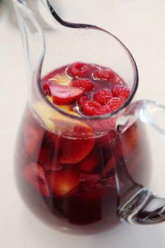 {Mandy's Sangria}  Pinot Grigio, St.Germain, and fruit!