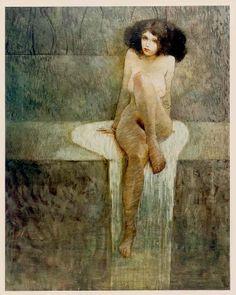 redlilith:  Seated, one of his most famous paintings, great romantic world elegant-lust:  Jeffrey Catherine Jones (Jeffrey Durwood Jones)