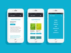 Mobile version of a fully responsive website designed for a e-commerce company.