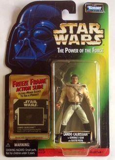 LANDO CALRISSIAN GENERAL GEAR Star Wars 1998 Power of Force Figure Freeze Frame #Kenner