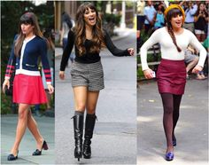Love Rachel Berry<3  Especially the middle outfit