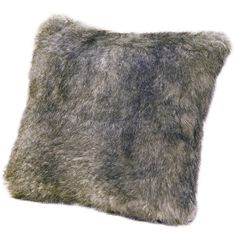 Accents 18-inch Faux Fur Chinchilla Pillow (1,960 PHP) ❤ liked on Polyvore featuring home, home decor, throw pillows, grey, square throw pillows, faux fur throw pillows, gray throw pillows, grey accent pillows and patterned throw pillows