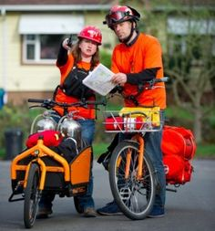 Disaster Response #Bikes - allow help to get to  hard-hit areas when cars can't #ProductivePedals