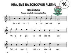 Výsledek obrázku pro zobcová flétna noty pro děti Sheet Music, Music Sheets