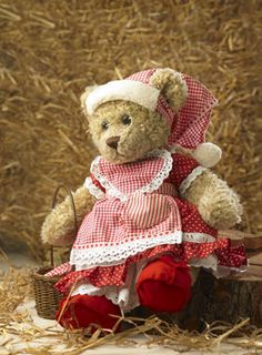 Build-A-Bear dress, shoes and apron pattern (in Danish)