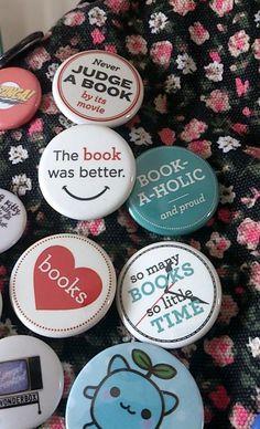 Book badges!!!   www.kopgroepbibliotheken.nl  #badges #kopgroepbibliotheken #lovebooks