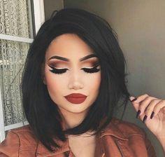 makeup, look, eyeshadow, lipstick, highlight, pretty, glitter