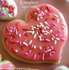 The BEST Valentine sugar cookies EVER... a touch of lemon makes it yummy even withOUT the frosting