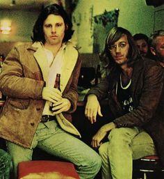 Jim Morrison avec Ray Manzarek