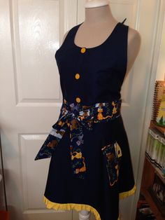 Custom ordered apron I made for a cat lover