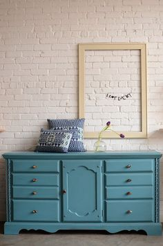 Turquoise dresser or buffet  Indira by knackstudio. Love the color and  design