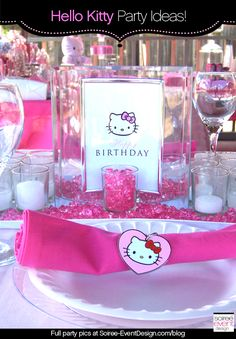 Character Week:  Hello Kitty Party Ideas