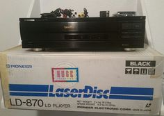 PIONEER LD-870 LASER VIDEO DISC PLAYER W/REMOTE AND BOX #Pioneer